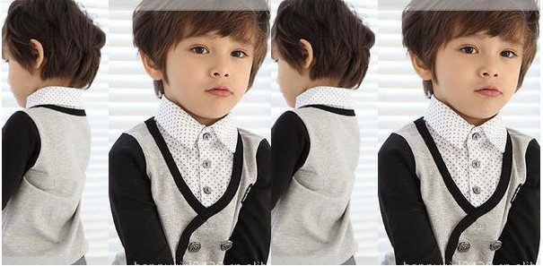 dfbf6aeed 2013 Handsome Boy Cotton Knitted Two Gentleman Boys Clothing Shirts ...
