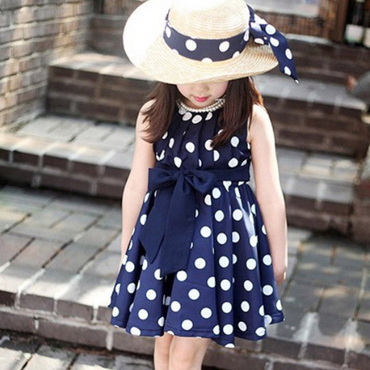 fdf85928a12b 2019 New Kids Children Clothing Polka Dot Print Casual Girls Dress ...