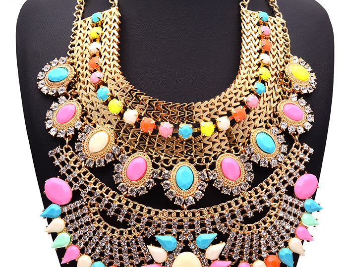 Occident Alloy Geometric necklaces   NHJQ0931