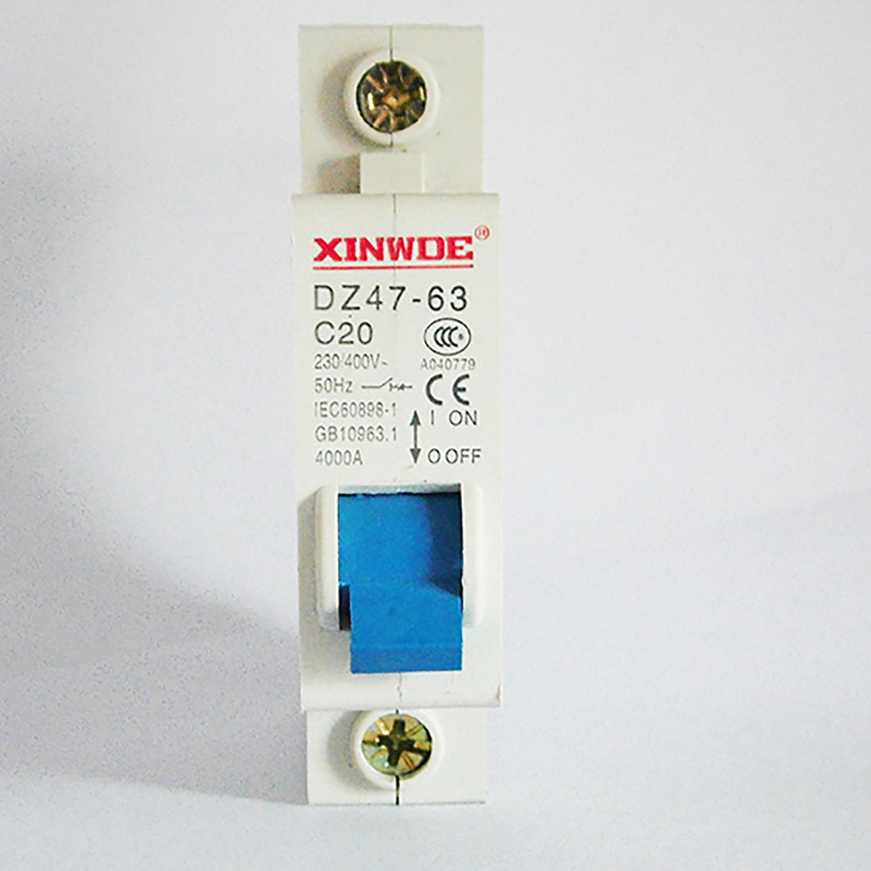 鑫威德 小型斷路器DZ47-63 C45 家用空氣開關2p 柳市斷路器